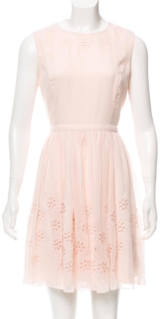 Preload https://item5.tradesy.com/images/ted-baker-peach-chiffon-mini-short-cocktail-dress-size-8-m-23330234-0-1.jpg?width=400&height=650