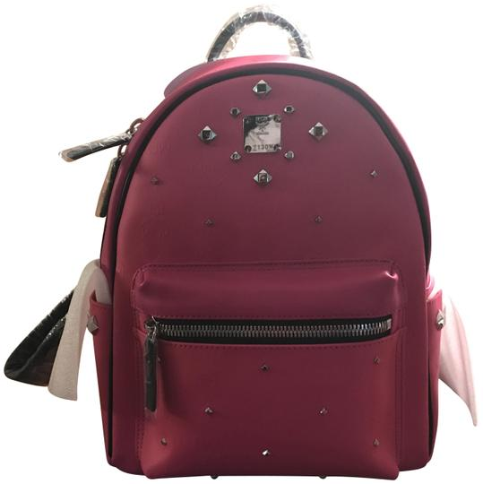 Preload https://item1.tradesy.com/images/mcm-stark-m-stud-small-pink-canvas-backpack-23330235-0-3.jpg?width=440&height=440