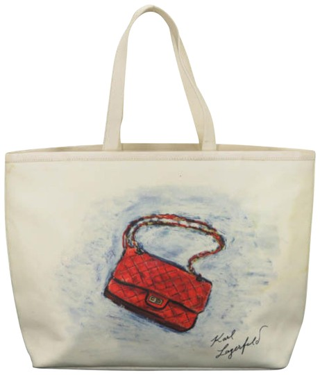 Preload https://item5.tradesy.com/images/chanel-mobile-art-866745-white-canvas-tote-23330239-0-1.jpg?width=440&height=440