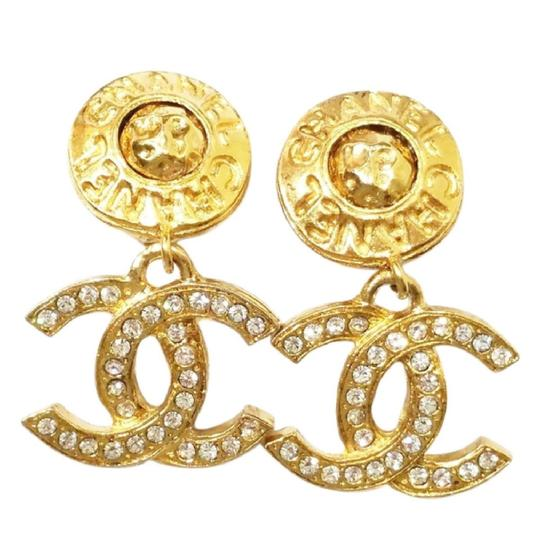 Chanel Extremely Rare C C Coco Rhinestone Double Sided Dangle