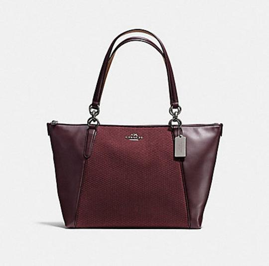 Coach Satchel Leather Satchel Ava 58318 Tote in oxblood