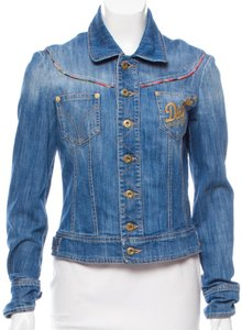 7ff179d182 Dolce Gabbana Womens Jean Jacket. Dolce Gabbana Embroidered Jacket Size 6 (S )