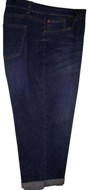 Ashley Stewart Capri/Cropped Denim-Medium Wash