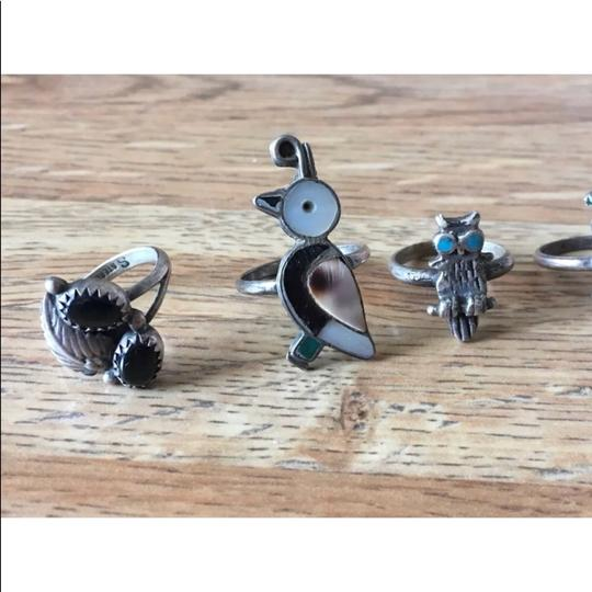 Unwritten Vintage Native American 925 Lot Of Rings