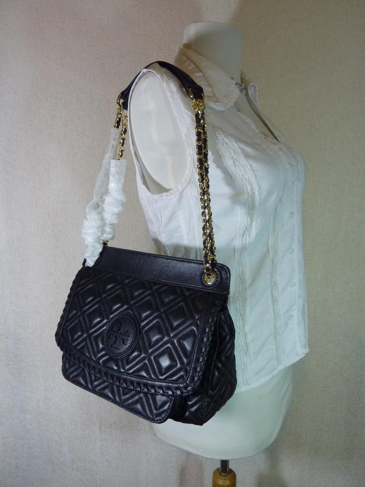 ... Quilted Tory Black Small Burch Leather Bag Saddle Marion Shoulder  wwrEZ4 ... 226b3db895ffa