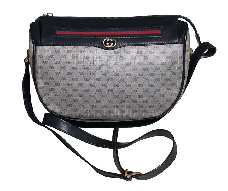 39686ea647827b Gucci Boston Monogram Diamante Web Off White Navy and (Red Web ...