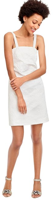 Preload https://img-static.tradesy.com/item/23330464/jcrew-white-convertible-strap-in-embossed-floral-short-night-out-dress-size-4-s-0-1-650-650.jpg