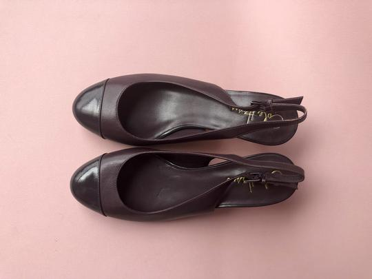 Cole Haan Slingback Couture Patent Leather Heels Purple / Eggplant Pumps