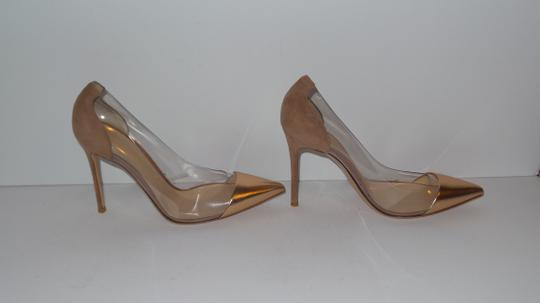 Gianvito Rossi GOLD AND BEIGE Pumps