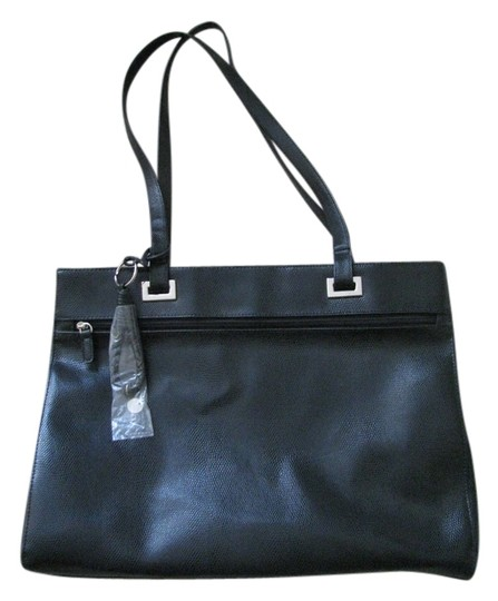 Preload https://item1.tradesy.com/images/coldwater-creek-black-faux-leather-satchel-2333050-0-0.jpg?width=440&height=440