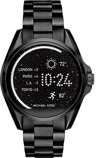 Preload https://item5.tradesy.com/images/michael-kors-black-unisex-ion-plated-smart-mkt5005-watch-23330504-0-1.jpg?width=440&height=440