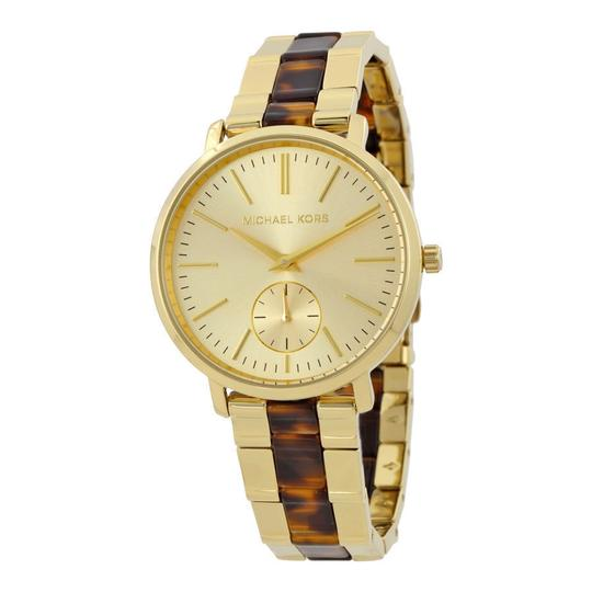 Preload https://img-static.tradesy.com/item/23330532/michael-kors-gold-women-s-tortoise-acetate-st-steel-mk3511-watch-0-0-540-540.jpg