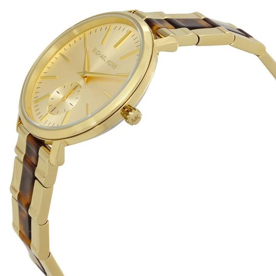 Michael Kors Michael Kors Women's Gold Tortoise Acetate St Steel Watch MK3511