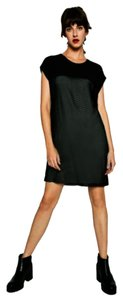 Zara short dress Black Little Minimalist Mesh Punk Sophisticated on Tradesy