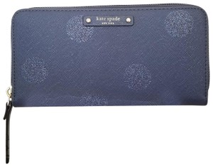 Kate Spade NWT Kate spade HANI Haven lane French navy dot wallet