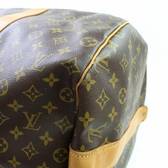 Louis Vuitton Keepall Extra Large Xl Bandouliere 70 Brown Travel Bag