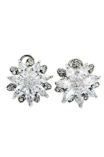 Preload https://item4.tradesy.com/images/silver-brilliant-crystal-flower-earrings-23330623-0-0.jpg?width=440&height=440