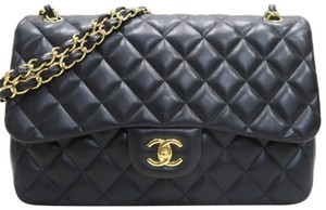 Chanel Jumbo Lambskin Double Flap Cross Body Bag