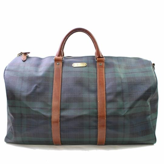 Preload https://item5.tradesy.com/images/polo-ralph-lauren-plaid-boston-duffle-866763-green-coated-canvas-x-leather-weekendtravel-bag-23330654-0-0.jpg?width=440&height=440