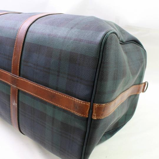 Polo Ralph Lauren Keepall Duffle Boston Burberry Nova Check Green Travel Bag