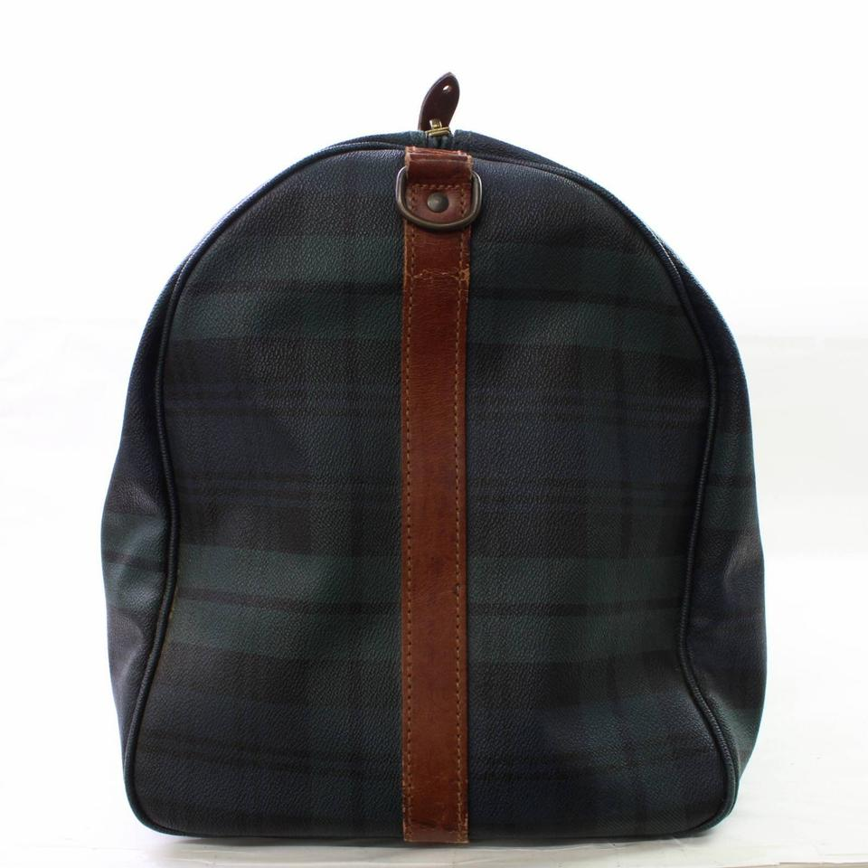 59104cf63581 Polo Ralph Lauren Keepall Duffle Boston Burberry Nova Check Green Travel  Bag Image 8. 123456789