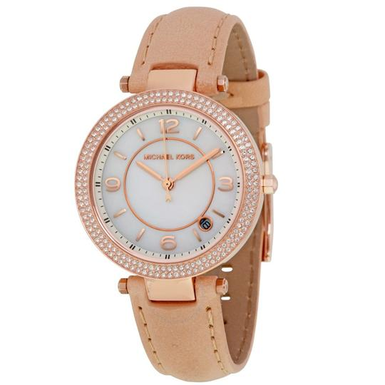 Michael Kors Michael Kors WOMENS Rose Gold Leather Strap Watch 33mm MK2463