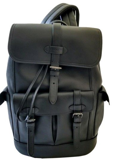 Preload https://item1.tradesy.com/images/coach-new-rare-buckle-utility-travel-rucksack-black-leather-backpack-23330680-0-1.jpg?width=440&height=440