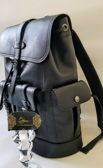Coach Rucksack Buckle Fashionable Men Leather Backpack