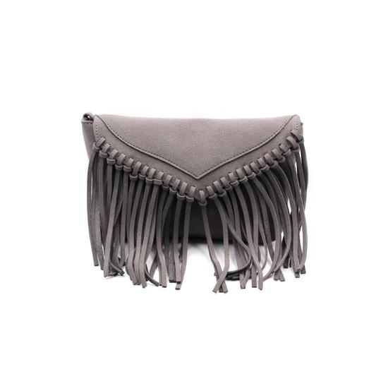 Preload https://item3.tradesy.com/images/fringed-suede-small-purse-gray-faux-leather-shoulder-bag-23330692-0-0.jpg?width=440&height=440