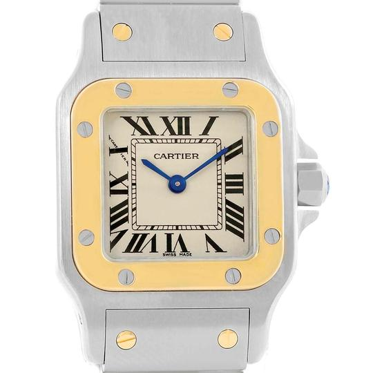 Preload https://item1.tradesy.com/images/cartier-silver-santos-galbee-steel-yellow-gold-ladies-w20012c4-watch-23330695-0-0.jpg?width=440&height=440