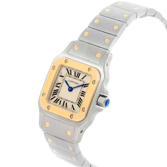Cartier Cartier Santos Galbee Steel Yellow Gold Ladies Watch W20012C4