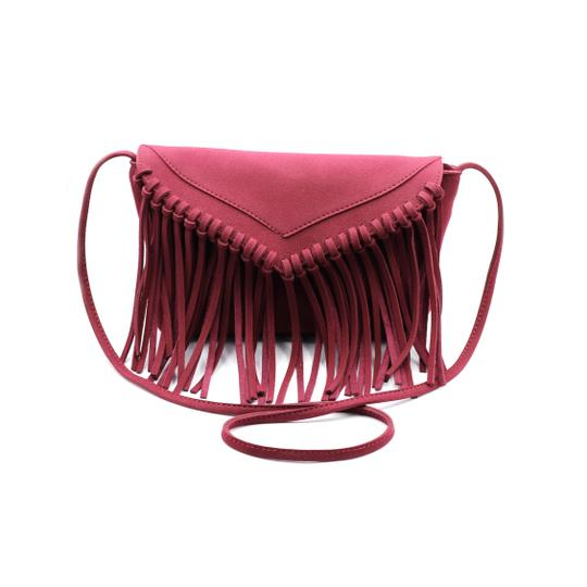 Preload https://img-static.tradesy.com/item/23330717/fringed-suede-small-purse-red-faux-leather-shoulder-bag-0-0-540-540.jpg