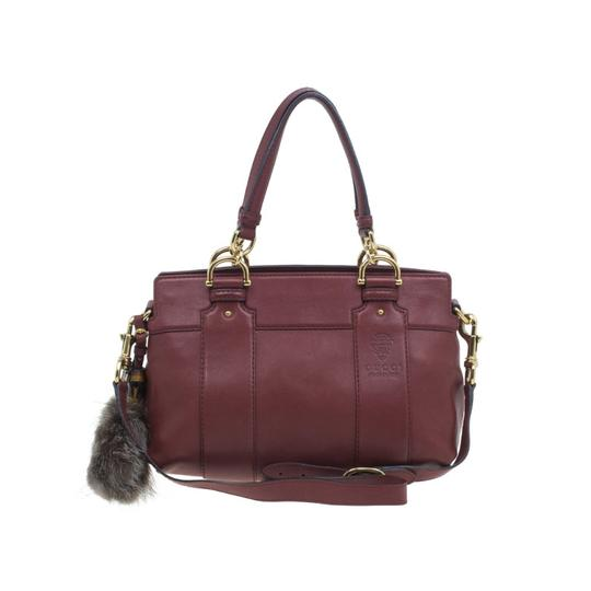 Preload https://item1.tradesy.com/images/gucci-burgundy-calfskin-smilla-red-leather-fabric-tote-23330725-0-0.jpg?width=440&height=440