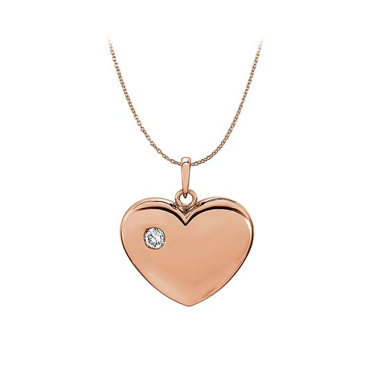 Preload https://item3.tradesy.com/images/pink-rose-gold-diamond-heart-pendant-in-14k-free-chain-necklace-23330732-0-0.jpg?width=440&height=440