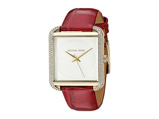 Preload https://item4.tradesy.com/images/michael-kors-white-red-women-s-lake-leather-strap-sparkling-crystal-mk2623-watch-23330738-0-0.jpg?width=440&height=440