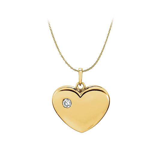 Preload https://item2.tradesy.com/images/yellow-yellow-gold-diamond-heart-pendant-in-14k-free-chain-necklace-23330756-0-0.jpg?width=440&height=440