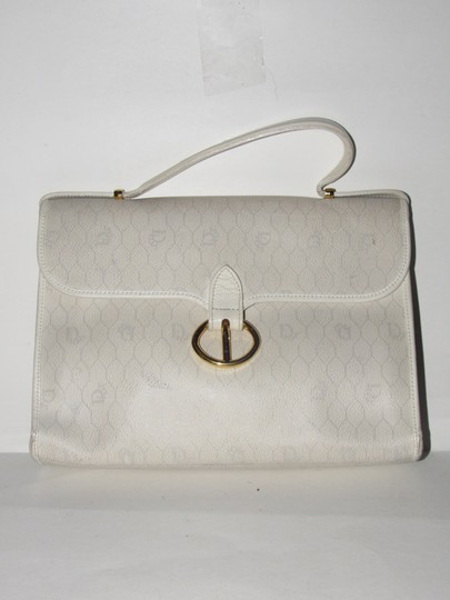 Preload https://img-static.tradesy.com/item/23330776/dior-vintage-pursesdesigner-purses-ivory-tan-and-greys-in-honeycomb-print-canvas-and-black-leather-c-0-2-540-540.jpg