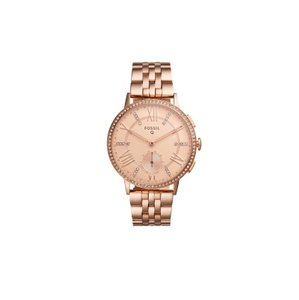 Fossil Fossil Q Women's Gazer Rose Gold Steel Hybrid Smart Watch FTW1106