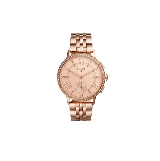 Preload https://item4.tradesy.com/images/fossil-rose-gold-women-s-gazer-steel-hybrid-smart-ftw1106-watch-23330798-0-0.jpg?width=440&height=440
