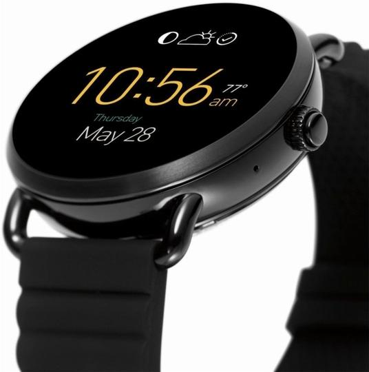 Fossil Fossil Black Silicone Strap Touchscreen Smart Watch 45mm FTW2103