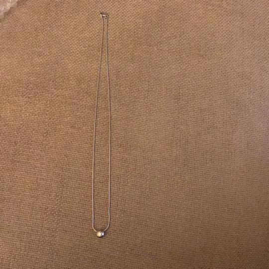 14k White Gold 14k white gold chain with pendent