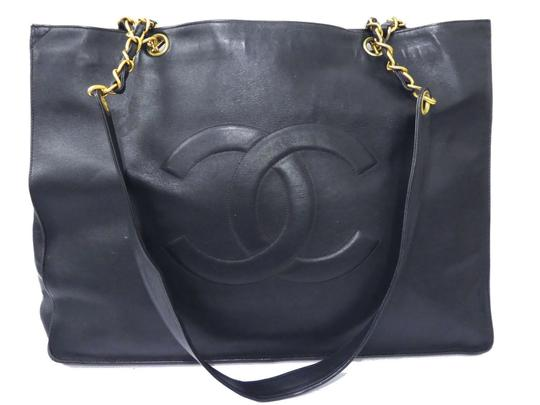 Preload https://item2.tradesy.com/images/chanel-timeless-paris-cc-lambskin-1625-inch-jumbo-handbag-black-leather-tote-23330861-0-0.jpg?width=440&height=440