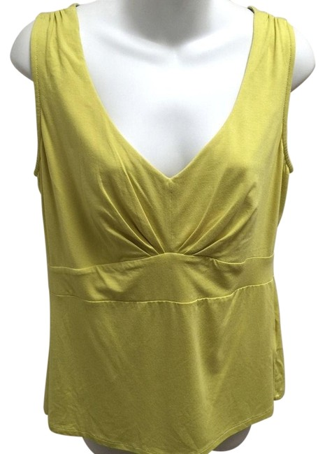 Preload https://item1.tradesy.com/images/boden-yellow-v-neck-empire-waist-ruched-shoulders-blouse-size-12-l-23330910-0-1.jpg?width=400&height=650