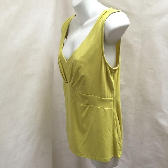 Boden Empire Waist V-neck Sleeveless Ruched Top Yellow