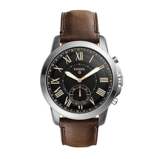 Preload https://img-static.tradesy.com/item/23330921/fossil-brown-men-s-grant-silver-leather-smart-ftw1156-watch-0-0-540-540.jpg