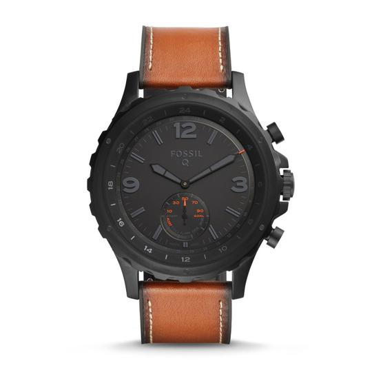 Preload https://item4.tradesy.com/images/fossil-brown-men-s-nate-dark-leather-hybrid-smart-ftw1114-watch-23330933-0-0.jpg?width=440&height=440