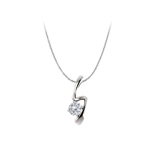 Preload https://item1.tradesy.com/images/white-one-carat-cubic-zirconia-freeform-pendant-gold-necklace-23330935-0-0.jpg?width=440&height=440