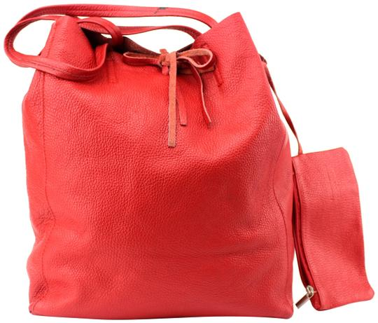 Preload https://item4.tradesy.com/images/unique-vintage-slushy-pebbled-genuine-shoulder-small-red-leather-tote-23330943-0-1.jpg?width=440&height=440