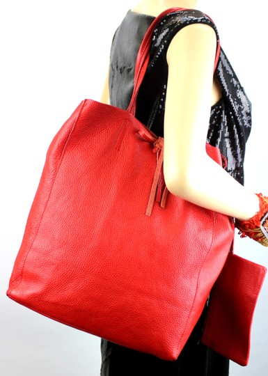 Unique Vintage Tote in Red