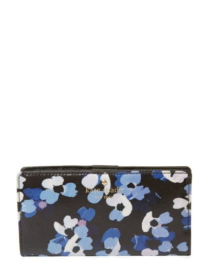 Kate Spade Cedar Street Blue Floral Stacy Wallet PWRU5115